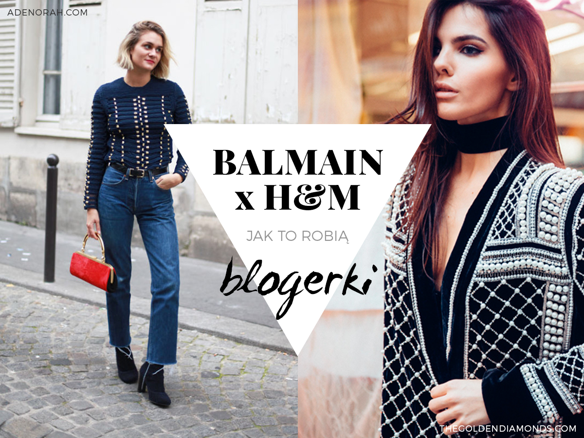 Balmain x H&M stylizacje blogerek